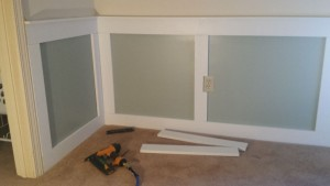 Installing Wainscoting on wall