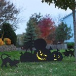 Plywood Halloween yard decorations